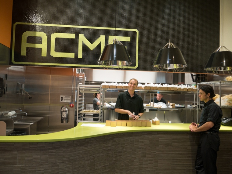 The Acme Burger and Brat counter, on the south side of the Great Hall