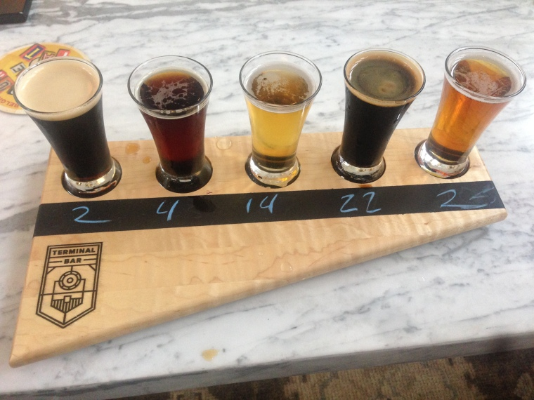 A beer flight is a great way to sample an assortment of the 30 Colorado beers on offer